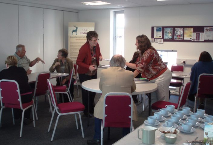Enjoying tea and biscuits | by Beverley Small
