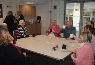 Tea break in the Community Room   by Beverley Small