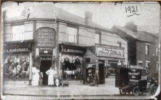 Villiers Road Shops c 1921