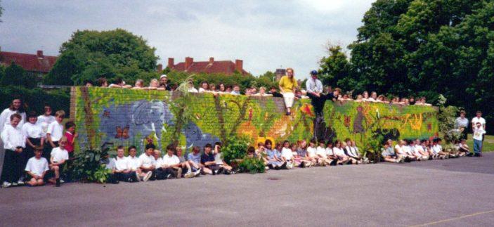 Oxhey Wood School Wall Painting - Junior Playground | S. Waller (nee Davidson)