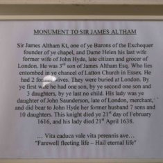 Sir James Altham - Sign | Emma Scott