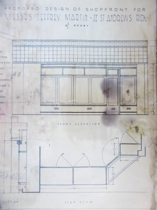 Old shopfront plans