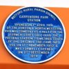 Blue plaque for Carpenders Park Station