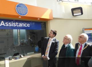 Blue plaque at Carpenders Park Station | Les Mead