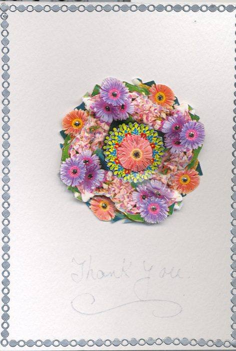 Thank you card   by June Moore