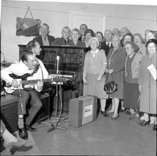 The group entertain at Clitheroe Old People's Club   © Watford Observer